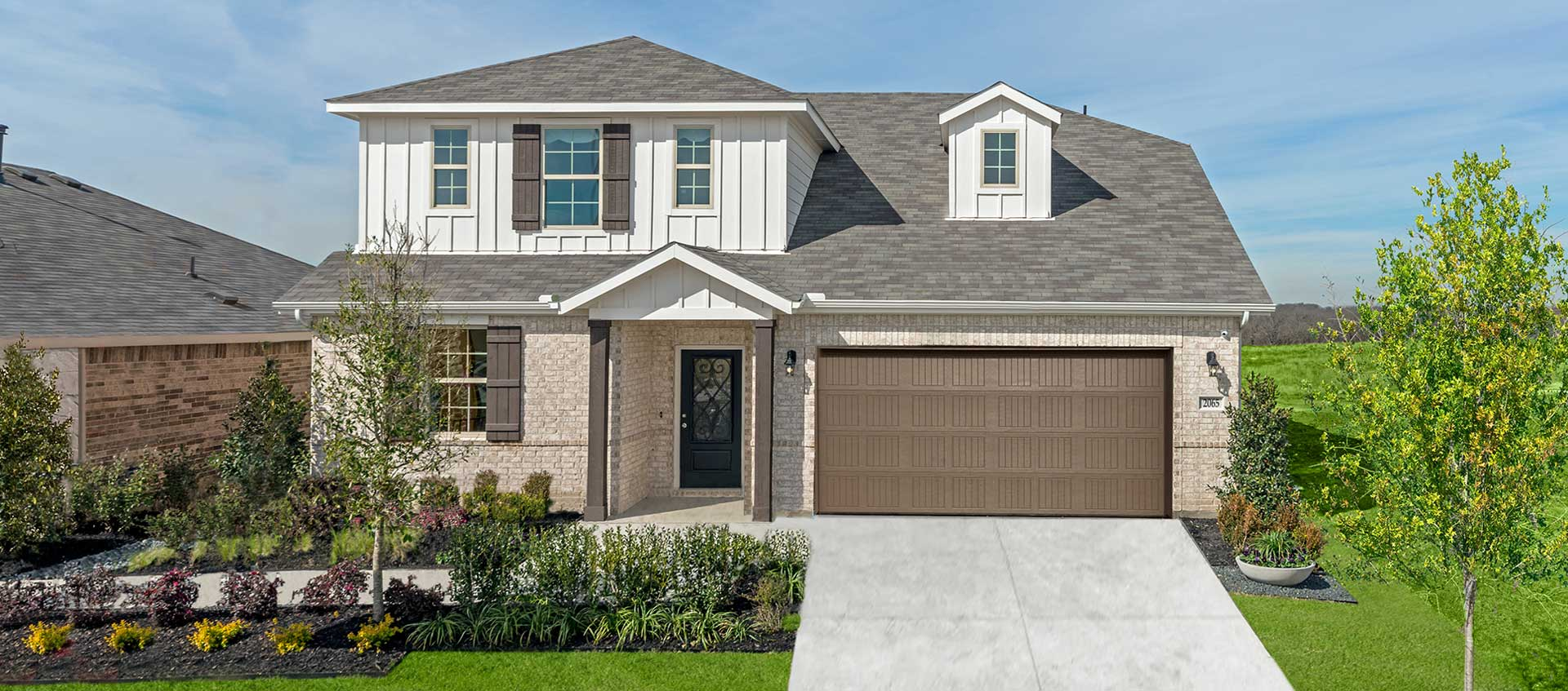 Beazer Homes Two-story brick home at Wildcat Ranch Crandall Texas