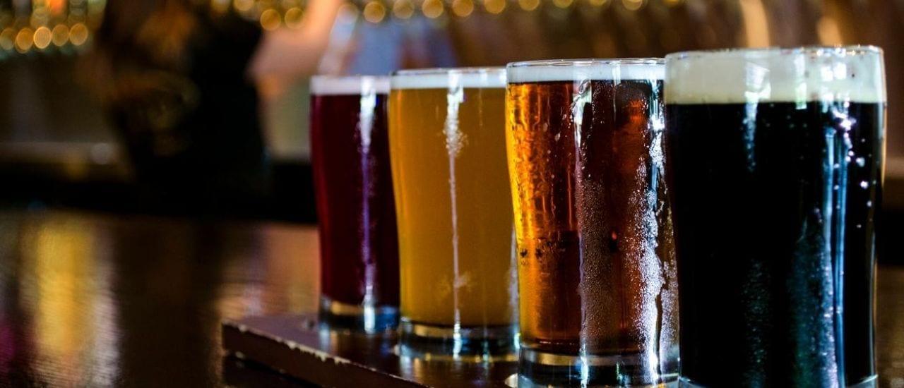 Wildcat Pints of beer on bar top