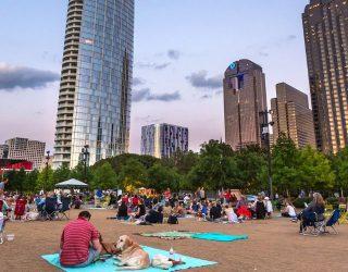 Event lawn in Dallas, Texas